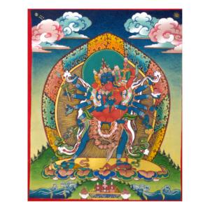 spiritual graphic design, graphisme spirituel, graphisme, spirituel, bien-être, motif, digital artwork, illustration, Inde, painting, sacred, thangka, kalachakra, deity, chakrasambhara